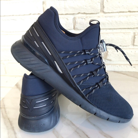 Louis Vuitton Mens Navy Blue Sneakers